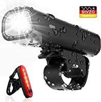 Pezimu Fahrradlicht Set - StVZO Zugelassen LED Fahrradbeleuchtung - Wasserdicht Frontlicht Rücklicht Fahrradlampe...