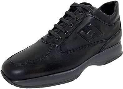 Hogan B83 Sneakers Uomo Interactive PENNELLATO Brushed Dark Grey Shoes Men