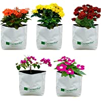 Cocogarden UV Treated Poly Grow Bags 24 x 24 x 40 cms (White, Pack of 5)