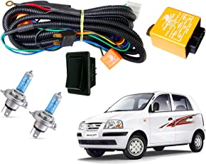 Autopearl Halogen Headlamp Wiring Harness Kit for Hyundai Santro Xing (Set of 3)