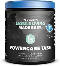 Dometic PowerCare Tabs, Sanitär-Reiniger für Camping-WC, Fäkalien-Tanks, Chemie-Toilette 16 Tabs
