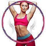 Tumax Hoelahoep Fitness, Opvouwbare Fitnessgolf Gewogen 1 kg, Secties Aanpasbaar met Zacht Schuim, Professionele Fitness Hoel