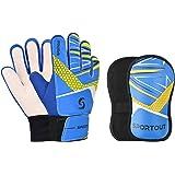 Sportout - Set di guanti da portiere per bambini, per bambini e ragazze, per prevenire infortuni