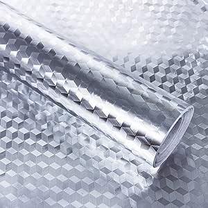 meubles tables type-C armoires KINLO 0,61 x 5 m papier daluminium autocollant papier de cuisine autocollant r/ésistant /à lhuile /étanche anti-moisissure feuille de meubles bricolage pour cuisines