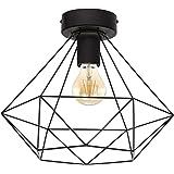 EGLO Lampa Sufitowa Tarbes, Czarny, 32.5 x 32.5 x 27.5 cm