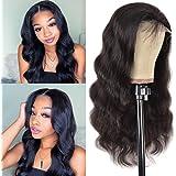 Body Wave Lace Frontal Wig 10 Inch Unprocessed Brazilian Virgin Human Hair Wigs 130% Density Short Body Wave Bob Wig For Blac