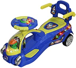 Toyshine Space Ship Magic Car Ride-on Toy (Blue)