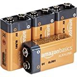 AmazonBasics 9 Volt Everyday Alkaline Batteries (4-Pack)