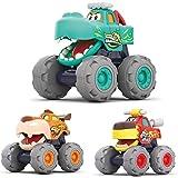 MOONTOY Monster Trucks Pull Back Veicoli Giocattoli per auto Regali per bambini dai 12 mesi in su