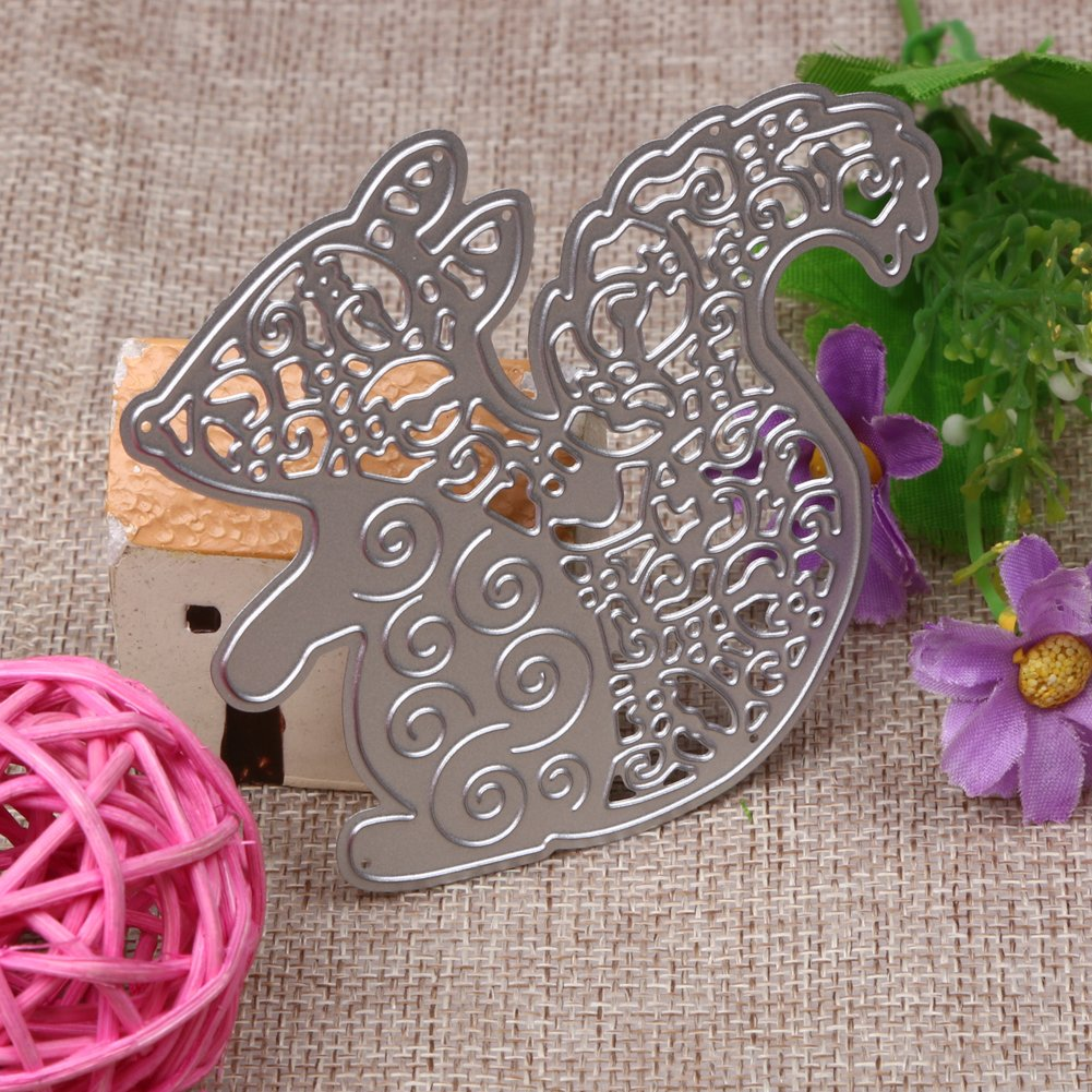 demiawaking 6pcs flower with leaves cutting dies stencil for diy