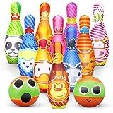 Skittles Game for Kids Soft Bowling Set 10 Pins en 2 Balls met Net Bag Indoor Outdoor Leren speelgoed voor kinderen