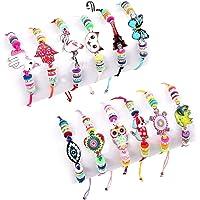 Lunriwis 12 PCS Bracelet Amitié Fille Bijoux Enfants - Petits Cadeaux Anniversaire Enfant Jouet Fille Bijoux Bracelet