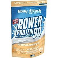Body Attack Power Protein 90, Apricot-Maracuya Cream, 500g, 5K Eiweißpulver mit Whey-Protein, L-Carnitin und BCAA für…