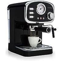 Klarstein Espressionata Gusto - Macchina per Caffè Espresso, 15 Bar, Serbatoio: 1 L, 1100W, Indicatore di Temperatura…
