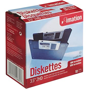Imation 10xMF2HD 1,44MB 3,5Zoll 8,9cm Diskette