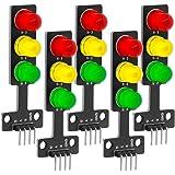 AZDelivery 5 pcs Mini Semaforo LED Modulo de Pantalla DIY Creativo Bricolaje 3.3-5V 5MM compatible con Arduino con E-Book inc