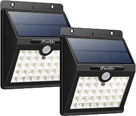 Lampade Solari, [2-Pacchi] iPosible 33 LED Luce Solare Giardino con Sensore di Movimento, Luci Solari Impermeabile 3 Modalità Wireless di Sicurezza Alimentata con Energia Solare per Patio, Parete Esterna, Ponte, Cortile, Giardino, Vialetto