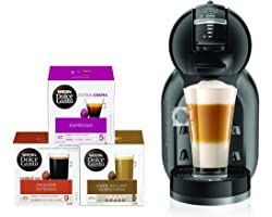 Nescafe Dolce Gusto Mini Me Coffee Machine (with 3 Capsule Boxes), Black, DG0132180903 B+CAPS BUNDLE, mini me bundle
