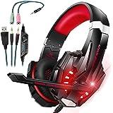 Cuffie Gaming PC PS4 con Microfono,Cuffie Gaming G9000 Bass Stereo Noise e Controllo Volume e LED per PS4/Xbox/Nintendo…