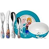 WMF Disney Frozen - Vajilla para niños 6 piezas, incluye plato, cuenco y cubertería (tenedor, cuchillo de mesa, cuchara y cuc