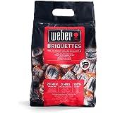 Weber 17705 Briketts 3 kg, kurze Anzündzeit, lange Brenndauer, natürliche Inhaltsstoffe