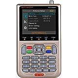 "GT MEDIA V8 Sat Finder Meter DVB-S/S2/S2X Localizador de señal de Satélites Digital Medidor de Campo 3.5"" LCD Display Ajuste"