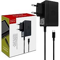 Chargeur pour Switch Console Adaptateur Secteur Support le Mode TV Charge Rapide avec Câble de 1.5m/5ft Compatible avec…