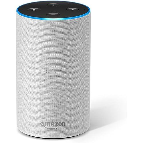 Amazon Echo (2ª generazione) - Altoparlante intelligente con integrazione Alexa - Tessuto grigio chiaro