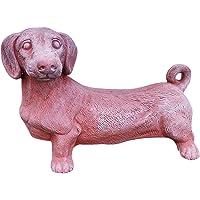 Cane Bassotto statuetta in terracotta per esterni o interni, resistente alle intemperie, ottime finiture