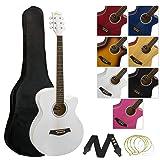 Tiger Akustikgitarre für Anfänger - Weiß