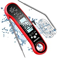 NIXIUKOL Thermomètre Cuisine 2 en 1, Thermometre Cuisson Etanche IP67 avec 3s Lecture Instantané, 2 Sondes, Alarme de…