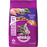 Whiskas Adult (+1 year) Dry Cat Food, Mackerel Flavour, 1.2kg Pack