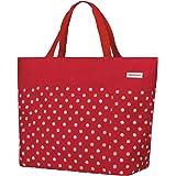 Anndora - Borsa shopper o da spiaggia, misura XXL, colore a scelta, A pois rossi e bianchi. (Rosso) - TW-8220-245