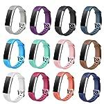 Winsenpro Fitbit alta HR bantlarında, 12adet yedek bantlarında Fitbit alta ve alta HR, büyük küçük 12farklı renkler için