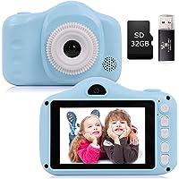 YUNKE Appareil Photo pour Enfants, Appareil Photo pour Enfants avec écran de 3,5 Pouces 8,0MP 1080P HD pour Enfants de 2…