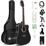 Vangoa 4/4 Guitare Électro-acoustiques avec Égaliseur 4 bandes 41 Pouces Folk Électrique Acoustique Guitares Kits pour Débuta