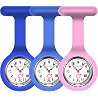 Vicloon Orologio da Infermiere, 3Pcs Orologio per Infermieri in Silicone con Spilla, Infermieri Fob Medical Watch…