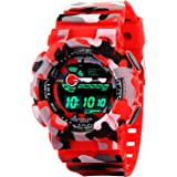 GOOD FEEL Digital Men's Watch (Red Dial, Red Colored Strap)
