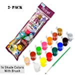 iParn Dezha 14 Shade Tempra Colors/Paints/Water Colours for Painting/Kids/Colour Paints for Drawing - 2 Pack