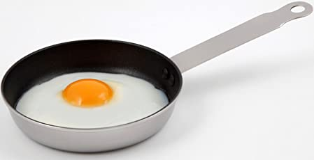 Stainless Steel Non Stick Mini Fry Pan Ø 12 cm & 14 cm// CHEF DIRECT // Induction Friendly Egg/Omelette/ Frying Pan