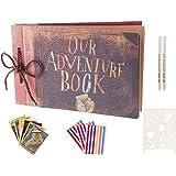 Boic Album Photo Scrapbooking, Livre Fait à La Main DIY Album pour Mariage, Voyage, Anniversaire, Album de Bricolage avec Kit