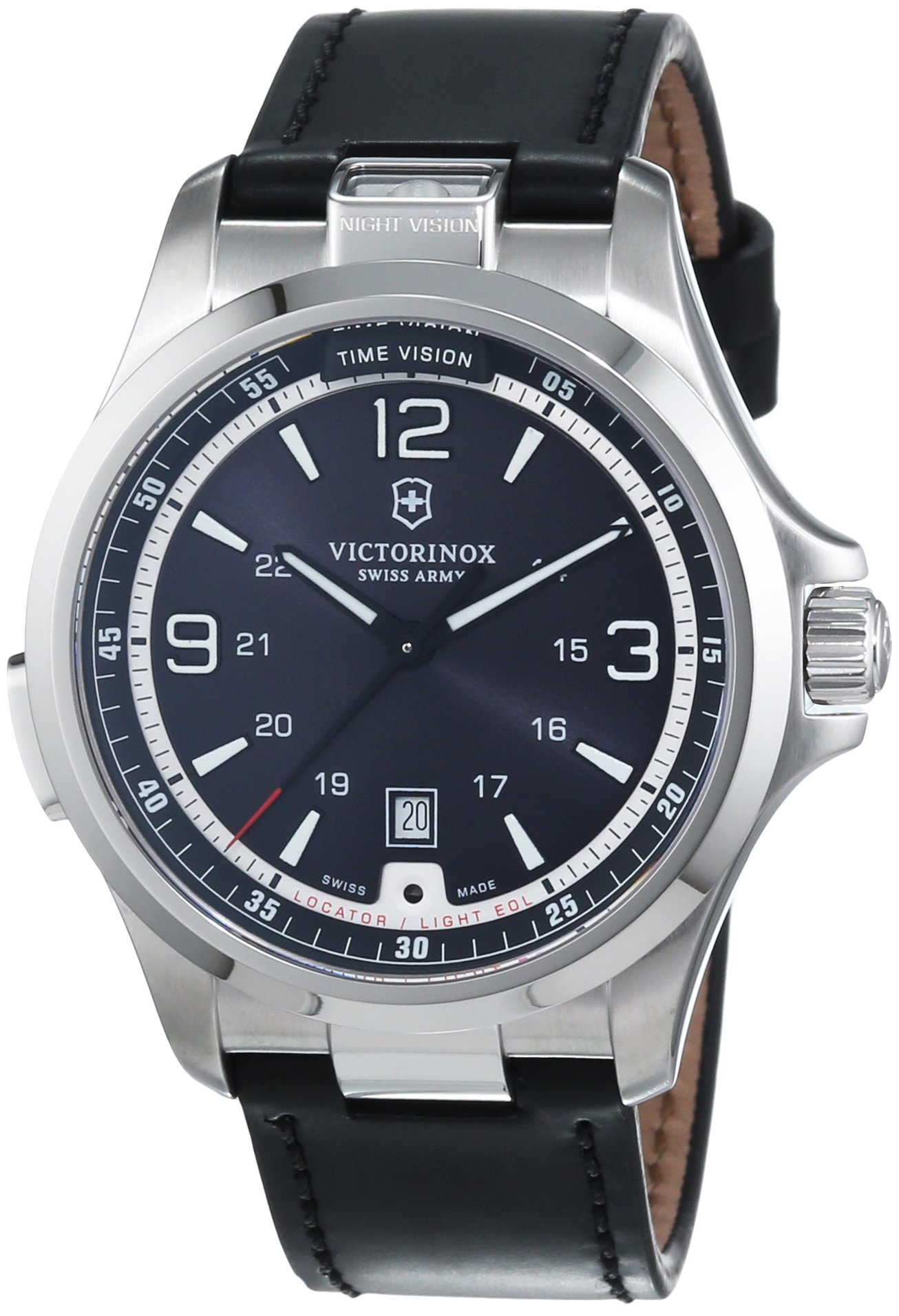 Victorinox 241664 – Reloj para hombres, correa de cuero color negro