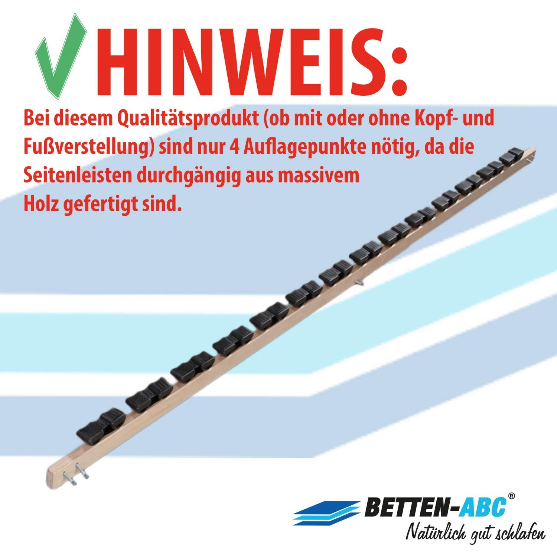 Betten-ABC Lattenrost Max 1 NV zur Selbstmontage/Lattenrahmen in 70 x 200 cm mit 28 Leisten und Mittelzonenverstellung…