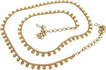 Biyu Festive Collection Copper Floral Kamarband Saree Waist Belt for Women