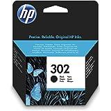 HP 302 F6U66AE Negro, Cartucho Original, de 190 páginas, para impresoras HP Deskjet serie 1110, 2100, 3600; HP ENVY 4500 y HP