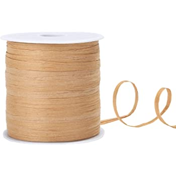 BTNOW 3 Rolls 3 Color 115 Yards//345 Feet Raffia Paper Ribbon Packing String//Twine Valentines Day Packing Ribbon 1//4 Inch Wide for Gift Box Packing