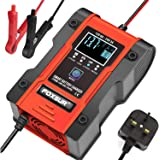 Innoo Tech Car Battery Charger, 12V 24V 7 Stage Charging Intelligent Automatic Battery Charger/Maintainer for Lithium, Lead-A