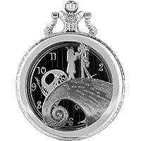 Argento orologio da tasca, Antqiue Engarved orologio da tasca al quarzo, The Gift for Men Tim Button The Nightmare…