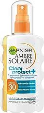 Garnier Ambre Solaire Clear Protect Sonnenschutz-Spray, mit LSF 30, 100% transparent, 100% nicht fettend, extra wasserfest, 200 ml