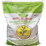 VERMIORGANIC Humus de Lombriz Ecológico 3KG (5 L), Categoría Extra. Abono para Todo Tipo de Plantas, Cultivos y Huertos Urban